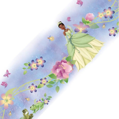 York Wallcoverings Disney Princess Frog Tiana Self Stick Wall Border Roll Wallpaper