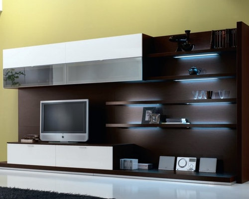modern wall units. Black Bedroom Furniture Sets. Home Design Ideas