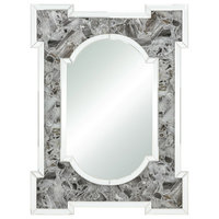 Crystalline Wall Mirror in Gray Agate / Clear Mirror