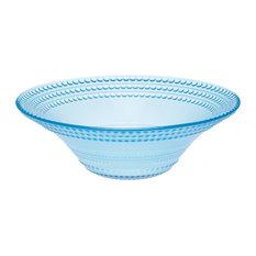 Pois Glass Ice Cream Bowls, Light Blue, Set of 6