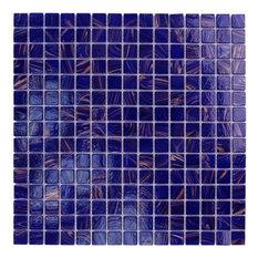 Mod Ariosto Gl Mosaic Tile Cobalt Blue