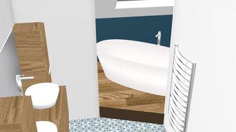 Projet de doublement d'une salle de bain à Orgeval