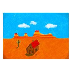 """""""Mexican Desert"""" Art Print, 42x30 cm"""