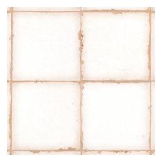 """SomerTile 4.88""""x4.88"""" Archivo Ceramic Floor/Wall Tile, Plain"""