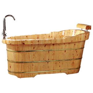 15 Solid Cedar Wood Foot Soaking Barrel Bucket With