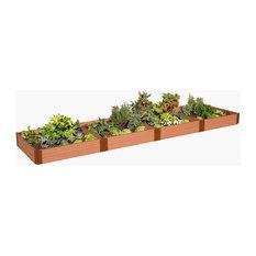 "Classic Sienna Raised Garden Bed 4'x16'x11"", 1"" Profile"