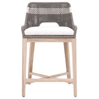 """Tapestry 26"""" Counter Stool, Dove Flat Rope, Outdoor"""