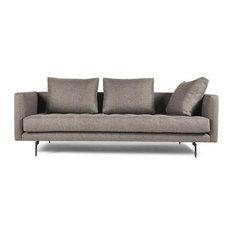 3-Seat Champaign Tweed Sofa, Beige