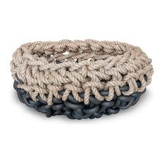 Black Hemp Crochet Basket