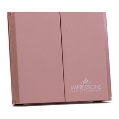 ReveaLight Trifold LED Compact Mirror with Flip Stand, Rose Gold