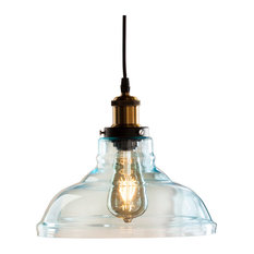 Coraline Colored Glass Bell Pendant Lamp, Soft Aqua