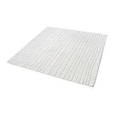 Blockhill Handwoven Wool Rug In Cream