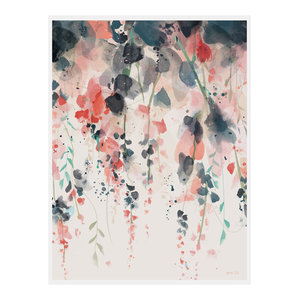 """Hanging Flowers"" Floral Art Print, Print Only, 50x70 cm"
