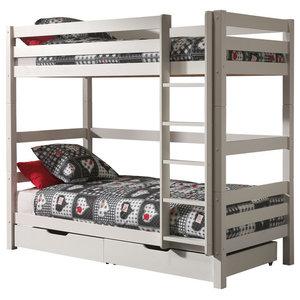 Pino Bunk Bed, White, Uk Super King
