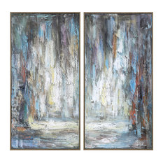 Uttermost Artist's Palette Hand Painted Canvases, 2-Piece Set