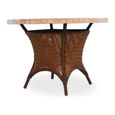 "Grand Traverse 42"" Round Unbrella Table, Caramel Mosaic Top, Bisque"