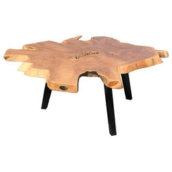 Rustic Outdoor Coffee Tables by Chic Teak