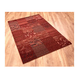 Kashqai 4327 300 Red Terra Rectangle Traditional Rug 160x240cm