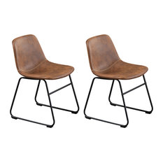 Home Beyond Synthetic Leather Dining Chairs Armless Set Of 2