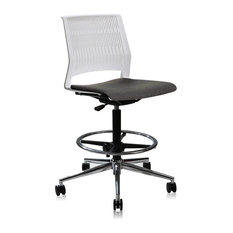 Unique - White Adjustable High Drafting Office Chair - Office Chairs  sc 1 st  Houzz & Unique Office Chairs | Houzz