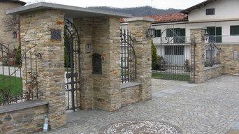pavimentazioni e muretti in pietra naturale di Luserna