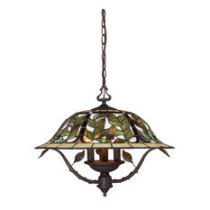 Elk Latham 3-Light Chandelier, Tiffany Bronze With Highlight 08016-TBH
