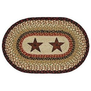 "Pm Op 19 Barn Stars Oval Placemat 13""X19"""