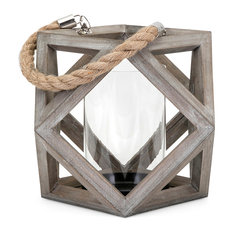 Ares Wood Lantern, Small