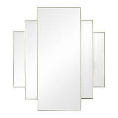 Art Deco Mirage Wall Mirror, Gold, 76x67 cm