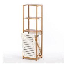 Bamboo Wooden Hamper Shelf
