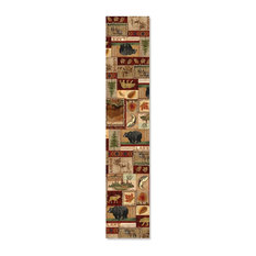 """Lodge Collage Table Runner, 13""""x72"""""""