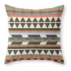 "Dg Aztec No.1 Throw Pillow Cover, 20""x20"" With Pillow Insert"