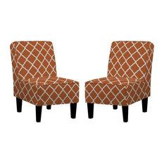 Bryce Trellis Chairs, Set of 2, Orange