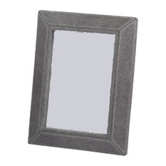"""Aspen Feel"" Hair on Leather 5"" x 7"" Photo Frame, Gray"