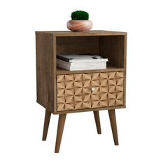 Liberty Mid Century - Modern Nightstand 1.0 With 1 Cubby Space And 1 Drawer