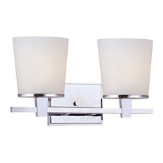 2-Light Vanity Bath Fixture, Chrome