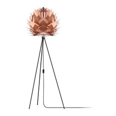 "Silvia 60"" Tripod Floor Lamp, Black/Copper"