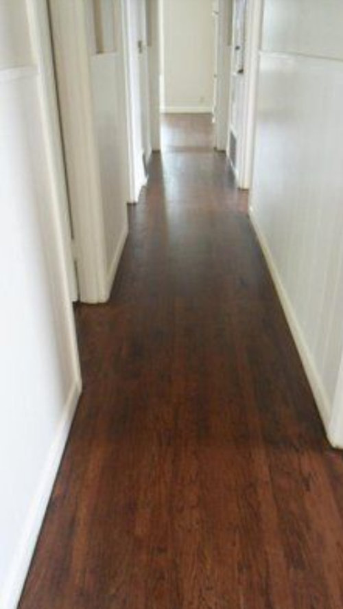Red Oak Floors A Deep Ebony Color