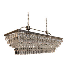 50 most popular modern chandeliers for 2018 houzz light up my home weston rectangular glass drop chandelier antique brass finish 40 aloadofball Images
