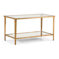 Jonathan Charles Fine Furniture   Art Deco Style Gilt Iron Cocktail Table   Coffee  Tables