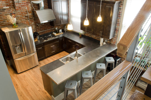 Industrial  Kitchen in Sandusky home