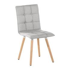 Brooklyn Upholstered Beechwood Dining Chair, Light Grey