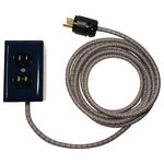 Conway Electric - 12' Ext_ +2, Navy, Navy With Ash Grey and Red Cord, 6' - The new 6' Ext_ for smaller rooms.