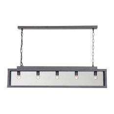 Zenia Hanging Lamp, Metal Grey, Small