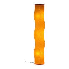 """Lumalight Floor Lamp, Canary Yellow, 76"""""""