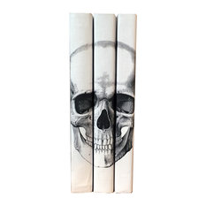 3-Piece Black Skull Decorative Books Set