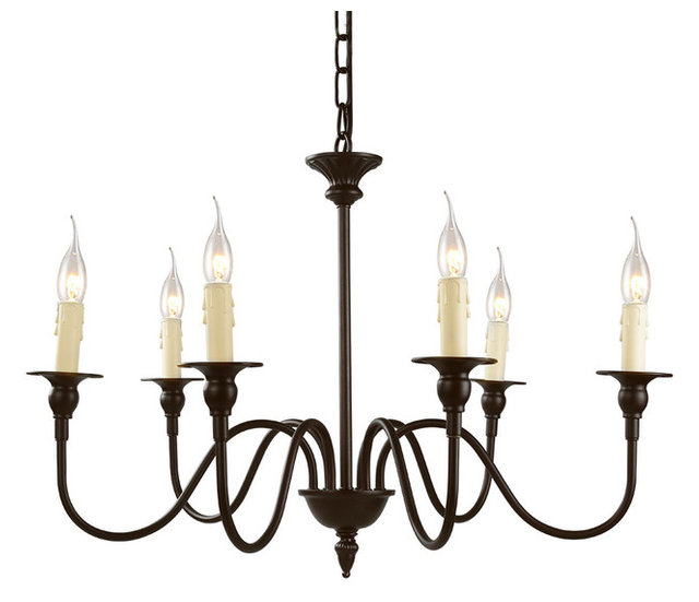 6 light candle chandelier industrial chandeliers by lnc home 6 light candle chandelier audiocablefo
