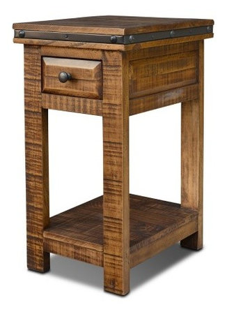 Rustic End Table Industrial Side Tables And End Tables by