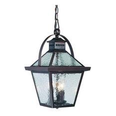 Bay Street Hanging Lantern 3-Light Outdoor Light, Architectural Bronze