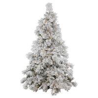 Vickerman Flocked Alberta Tree With Pinecones, 10', Warm White Led Lights